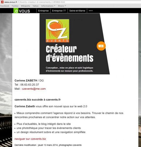 77, annonce, site, CZ Events, evous, Douay